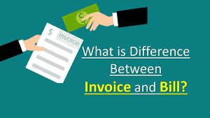Difference Between Invoice and Bill Receipt Table